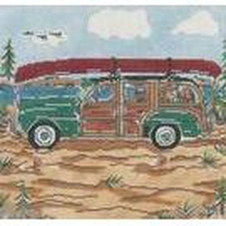 Mountain Woody Large Needlepoint Canvas - needlepoint