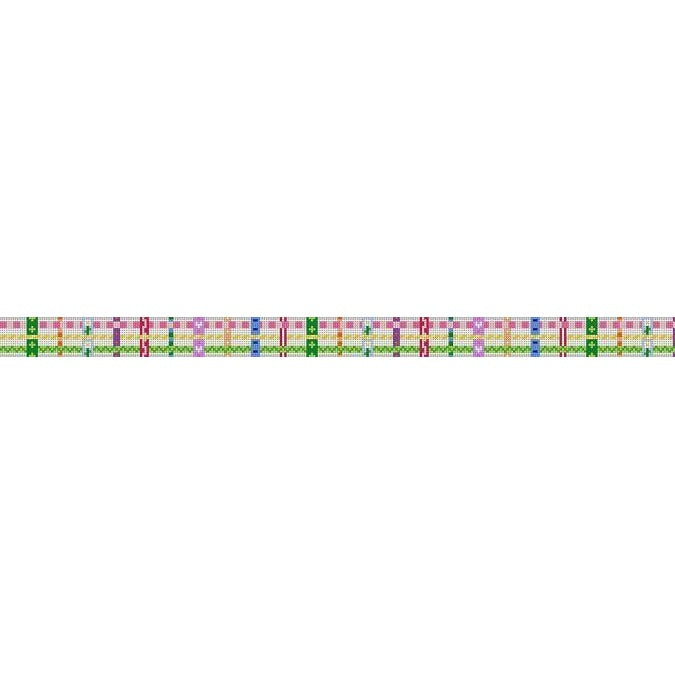 Woven Ribbons Child Belt Canvas - needlepoint