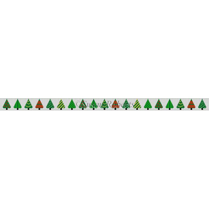 Christmas Trees Belt Canvas