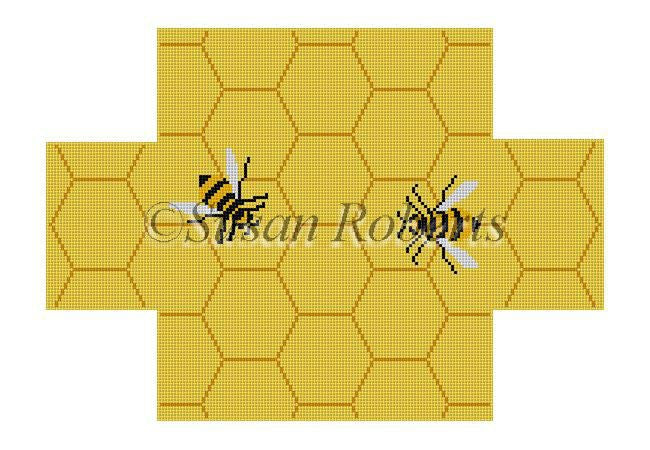 Beehive Brick Cover Canvas-Needlepoint Canvas-Susan Roberts-KC Needlepoint