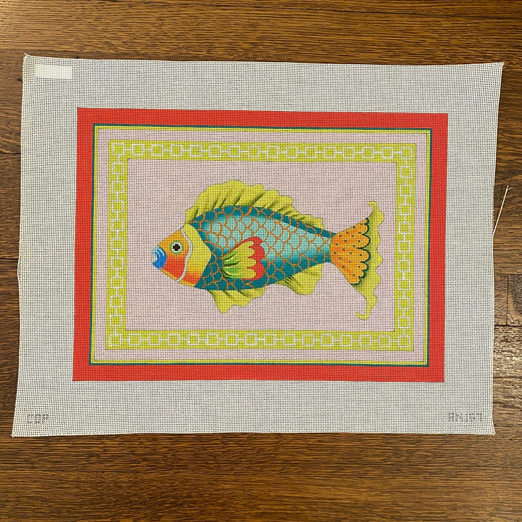 Colorful Fish Canvas - KC Needlepoint
