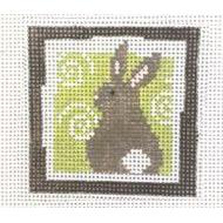 Bunny Square Canvas - needlepoint