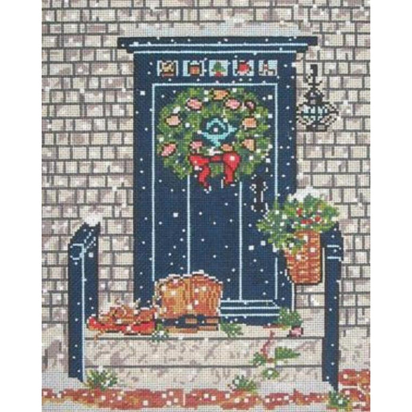 Blue Door Needlepoint Canvas - needlepoint
