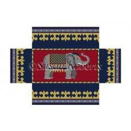 Elephant Brick Cover - needlepoint