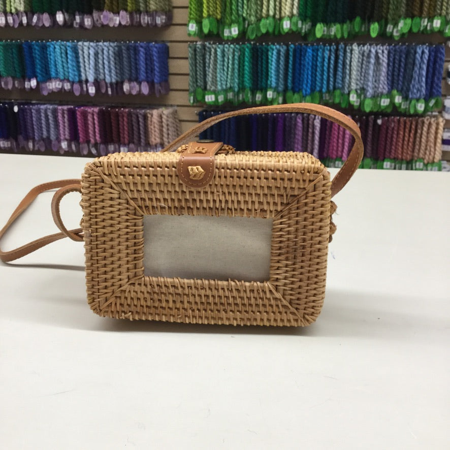Rattan Rectangle Purse-Accessories-Planet Earth Fiber-KC Needlepoint