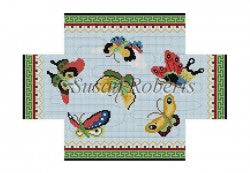 Chinese Butterflies Brick Cover - needlepoint