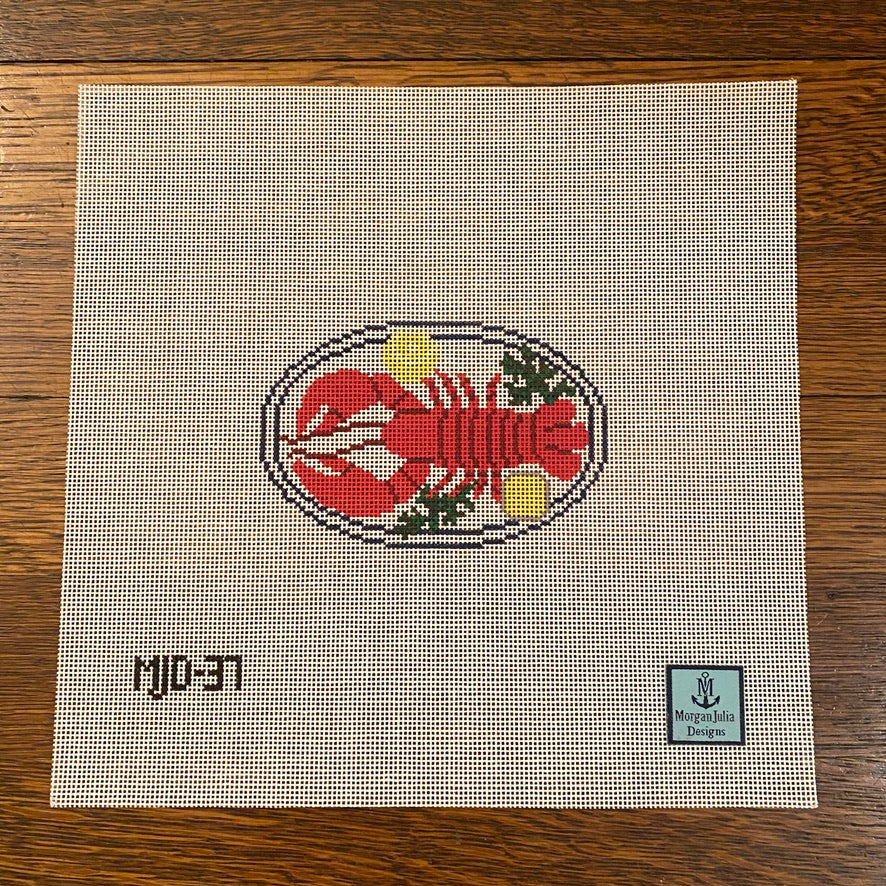 Lobster Dinner Canvas - needlepoint