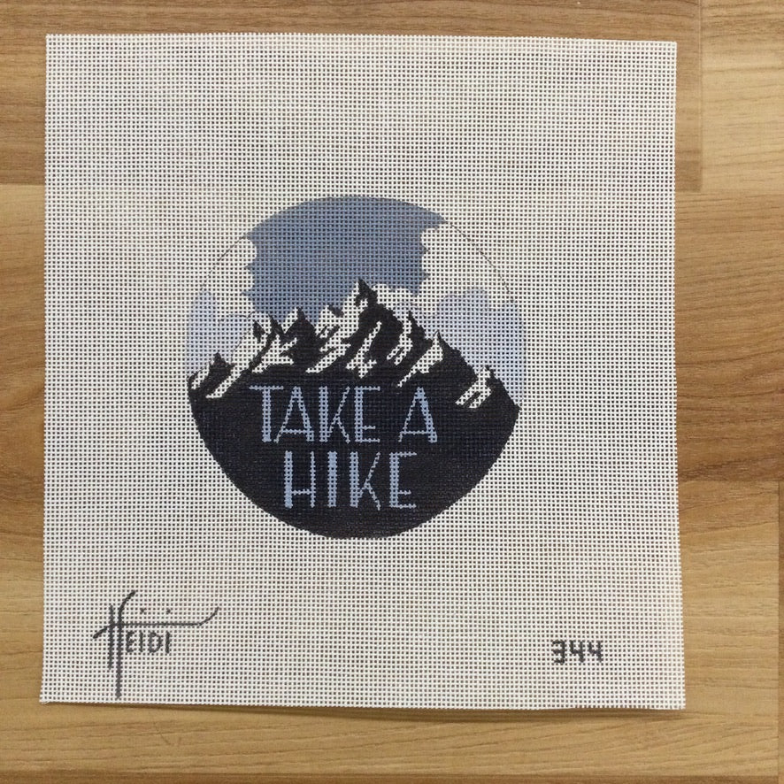 Take a Hike Round Canvas