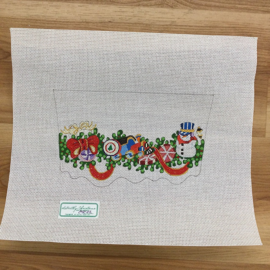 Train, Candy, Snowman Stocking Topper Canvas - KC Needlepoint