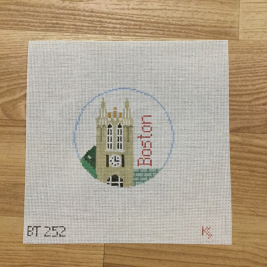 Boston College Round Canvas