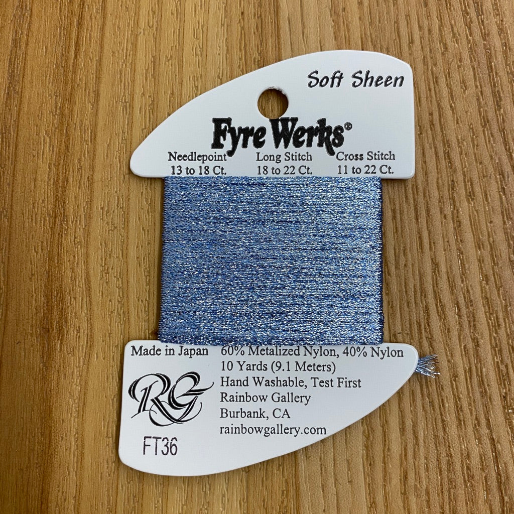 Fyre Werks Soft Sheen FT36 French Blue - needlepoint