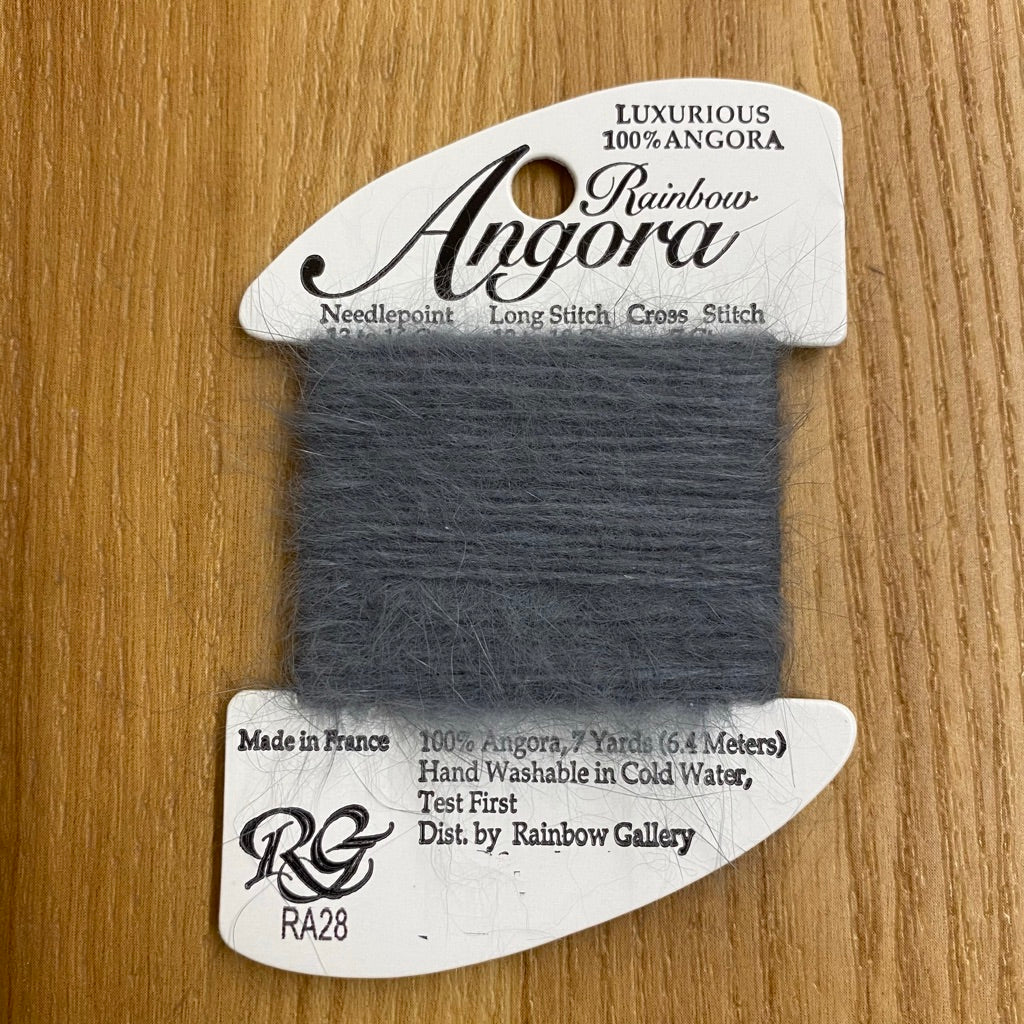 Rainbow Angora RA28 Charcoal Gray - needlepoint