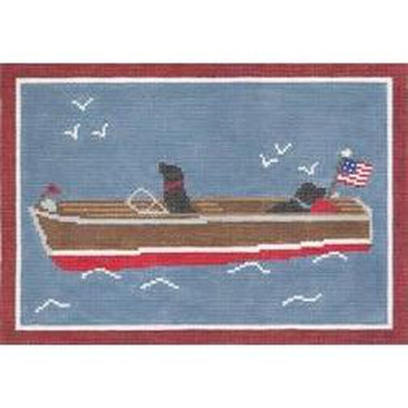All Aboard Pillow Canvas - needlepoint