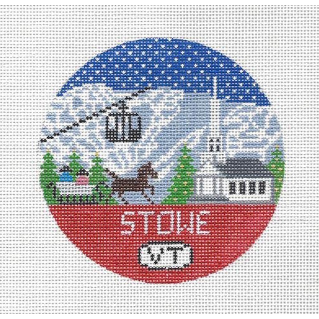 Stowe Travel Round Needlepoint Canvas-Needlepoint Canvas-Doolittle Stitchery-KC Needlepoint