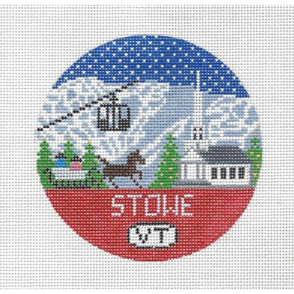 Stowe Round Needlepoint Canvas - needlepoint