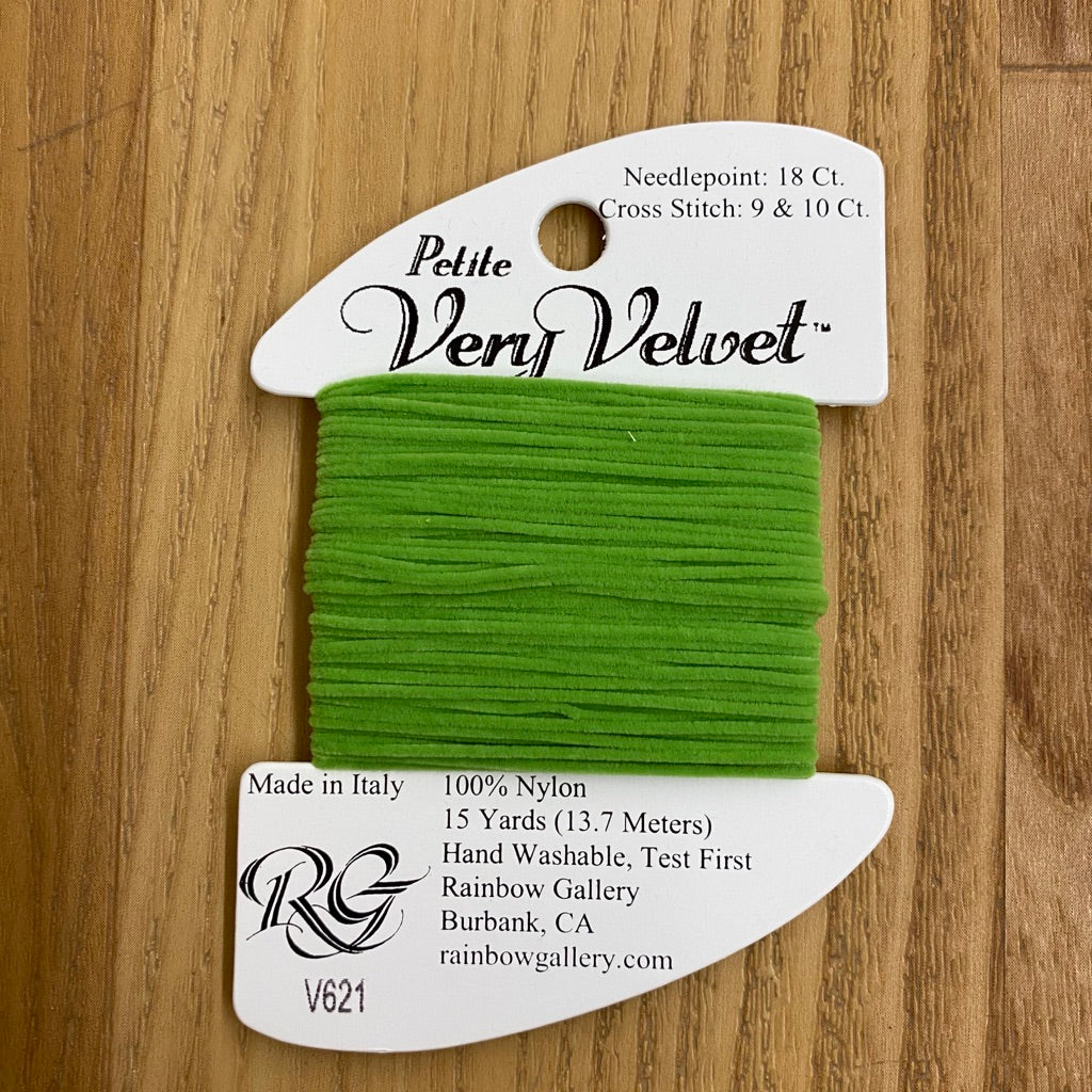 Petite Very Velvet V621 Lite Green - KC Needlepoint