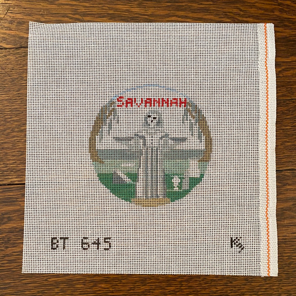 Savannah Travel Round Canvas-Needlepoint Canvas-KC Needlepoint