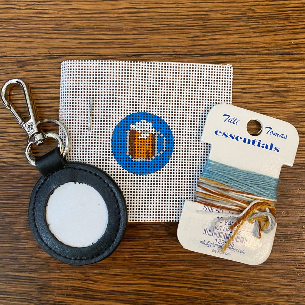 Beer Mug Key Fob Kit-Needlepoint Kit-KC Needlepoint