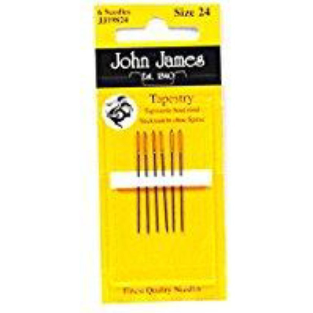 John James #24 Tapestry Needles-Accessories-Fleur de Paris-KC Needlepoint