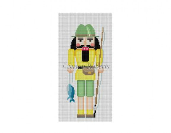 Fisherman Nutcracker Canvas - needlepoint
