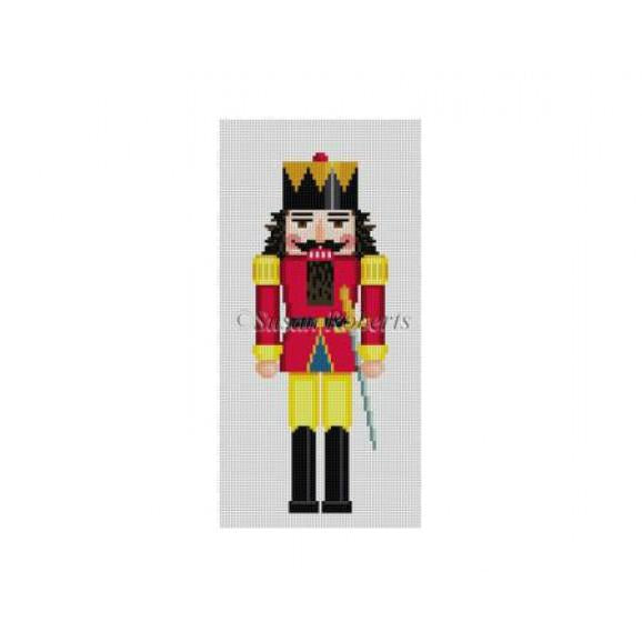 Red/Green King Nutcracker Canvas - needlepoint