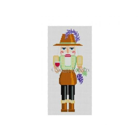 Winemaker Nutcracker Canvas - needlepoint