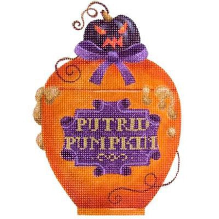 Putrid Pumpkin Halloween Bottle Canvas-Needlepoint Canvas-Kirk & Bradley-KC Needlepoint
