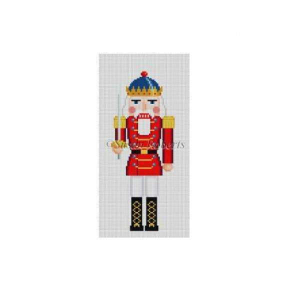 Red King Nutcracker Canvas - needlepoint