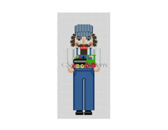 Engineer Nutcracker Canvas - needlepoint