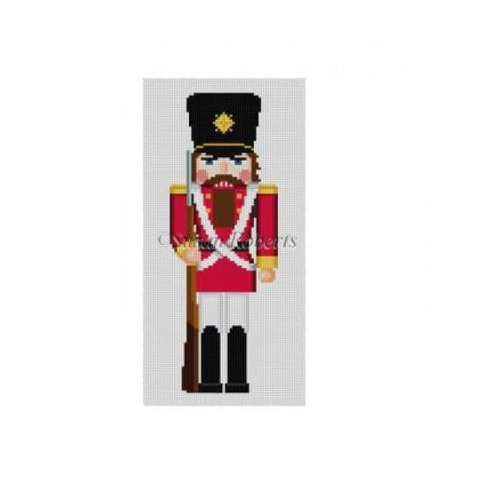 Red Soldier Nutcracker Canvas - needlepoint