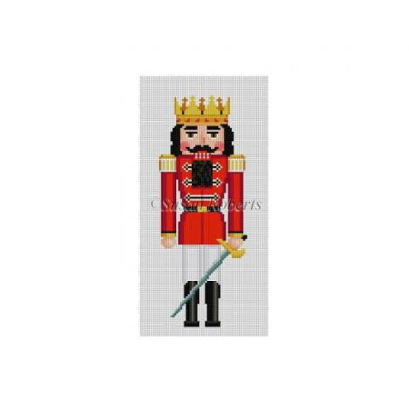 Red Prince Nutcracker Canvas - needlepoint