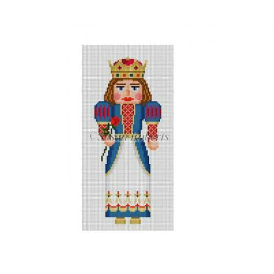 Blue Queen Nutcracker Canvas - needlepoint