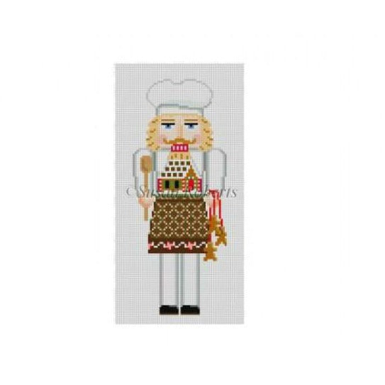 Gingerbread Chef Nutcracker Canvas - KC Needlepoint