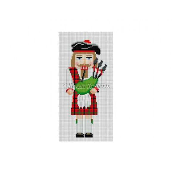 Bagpiper Nutcracker Canvas-Susan Roberts-KC Needlepoint