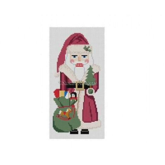 Long Coat Santa Nutcracker Canvas - needlepoint