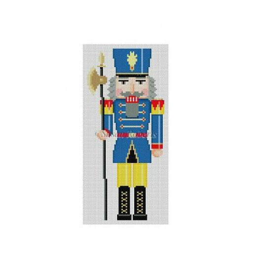 Blue & Yellow Nutcracker Canvas-Needlepoint Canvas-Susan Roberts-KC Needlepoint