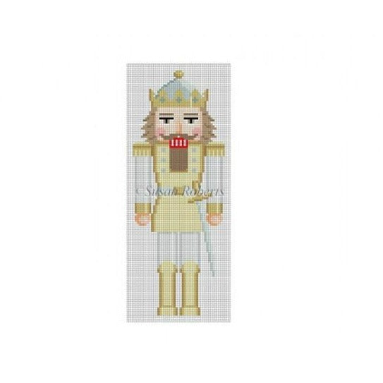 Silver & Gold Nutcracker Canvas - needlepoint