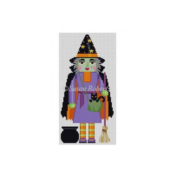 Witch Nutcracker Canvas - needlepoint