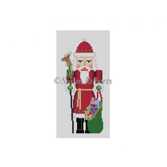 Santa/Reindeer Nutcracker Canvas - needlepoint