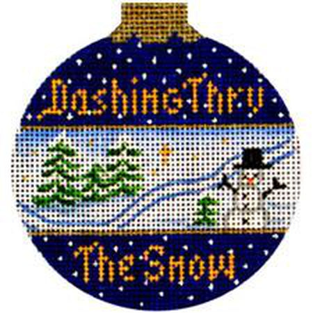 Dashing Through Snow Canvas-Needlepoint Canvas-Amanda Lawford Designs-KC Needlepoint