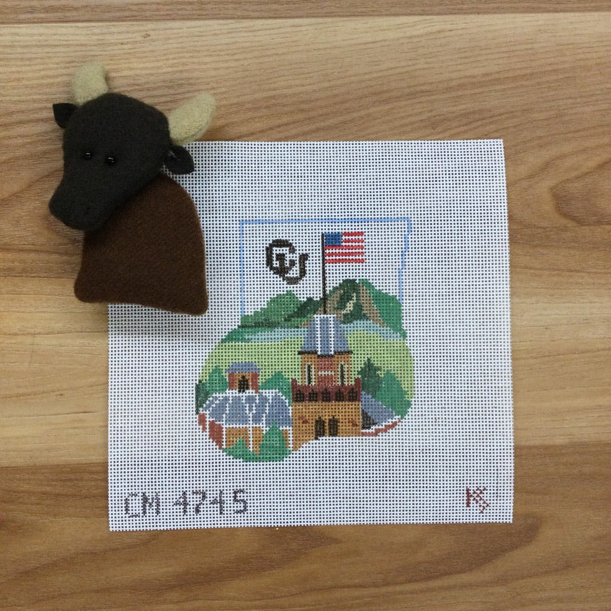 University of Colorado-Boulder Mini Sock Canvas