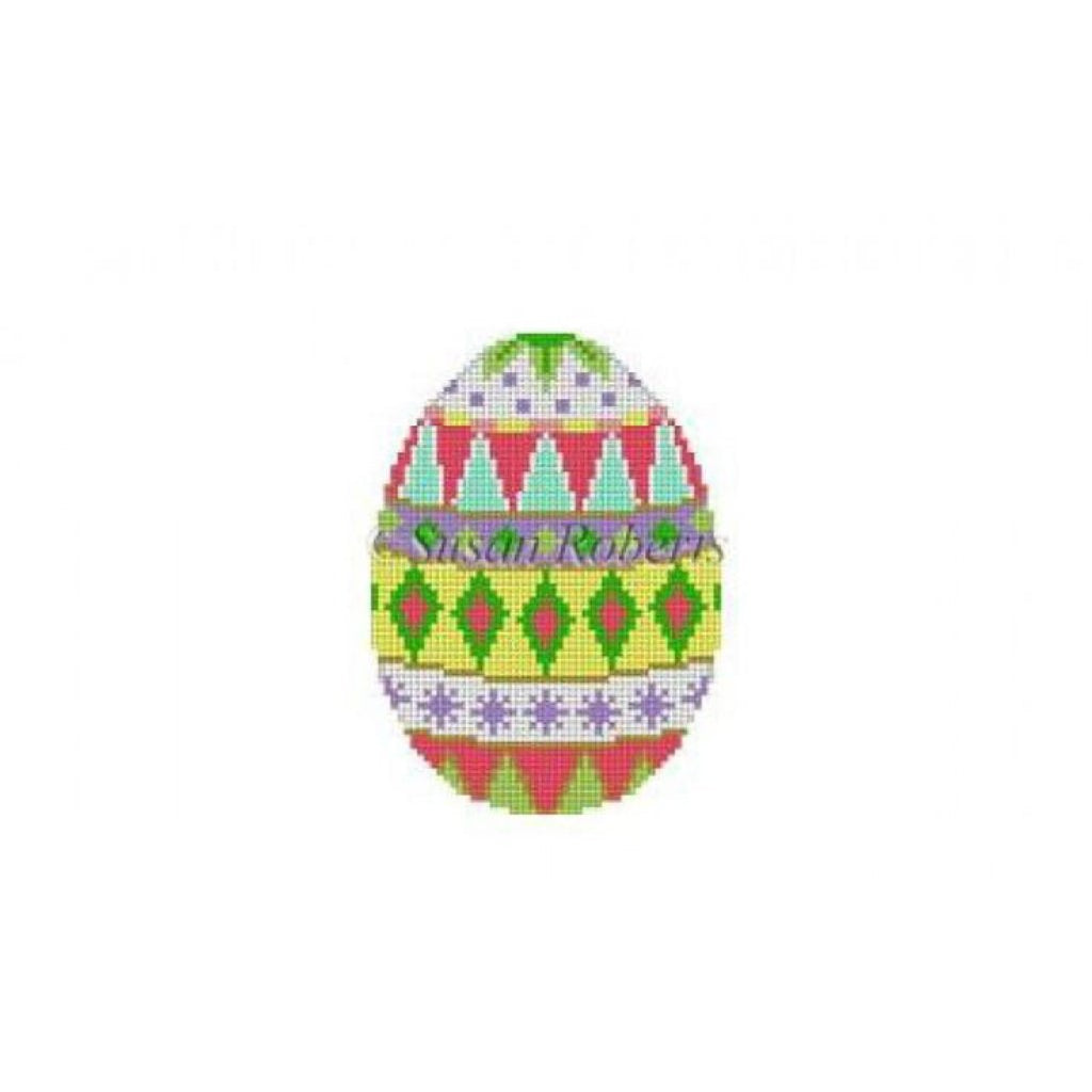 Diamond Bands Egg Canvas - needlepoint