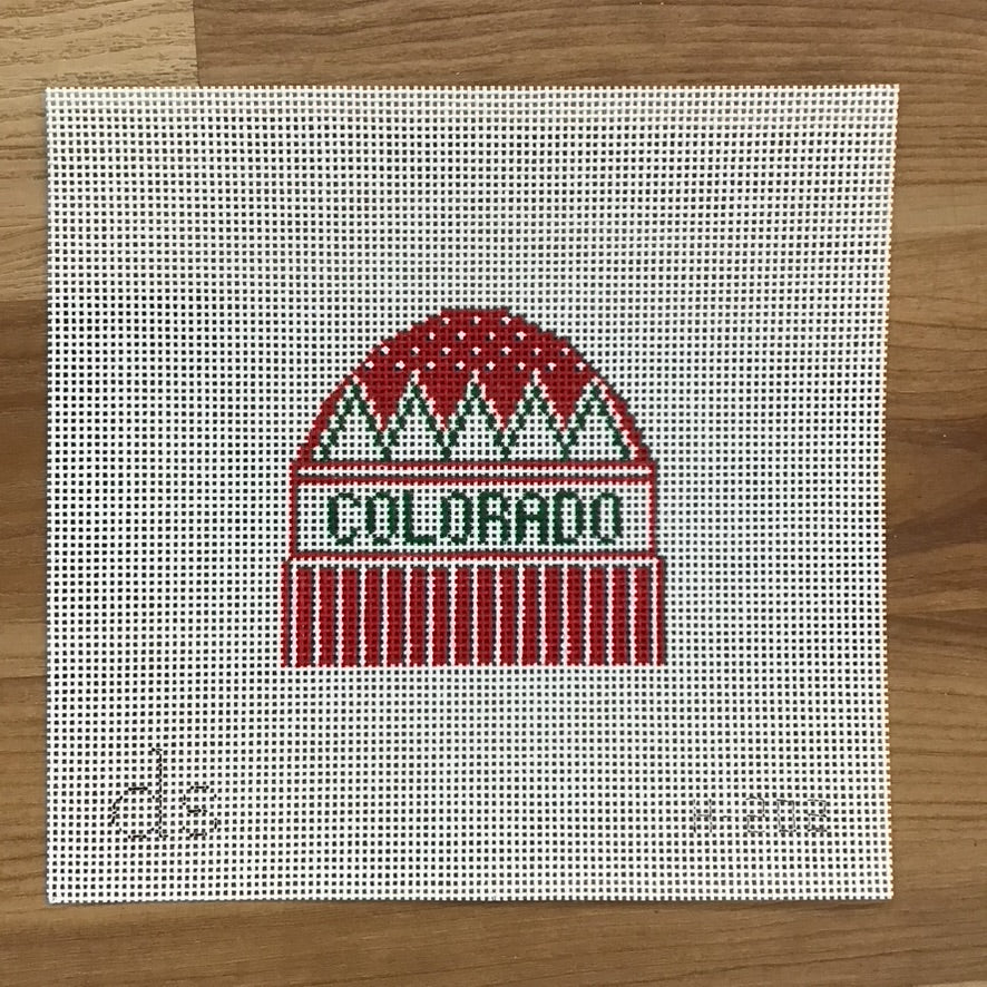 Colorado Hat Needlepoint Canvas