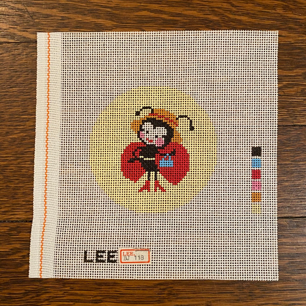 "Lady Bug 3"" Round Canvas"