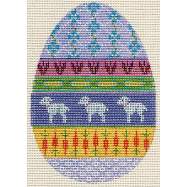 Easter Egg with Lambs Canvas
