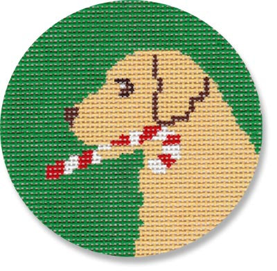 Candy Cane Lab Canvas - KC Needlepoint