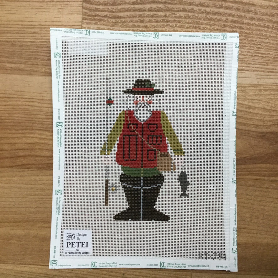 Gone Fishing Canvas - KC Needlepoint