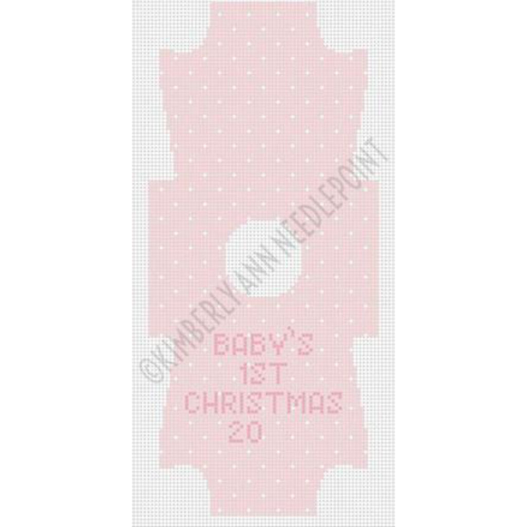 Baby Pink Onesie Canvas - needlepoint