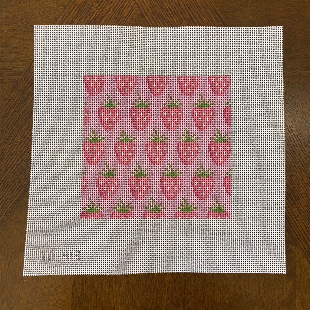 Strawberries Canvas - KC Needlepoint