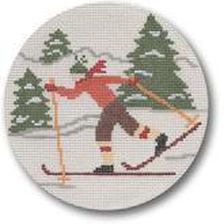 Cross Country Skiier Canvas - needlepoint